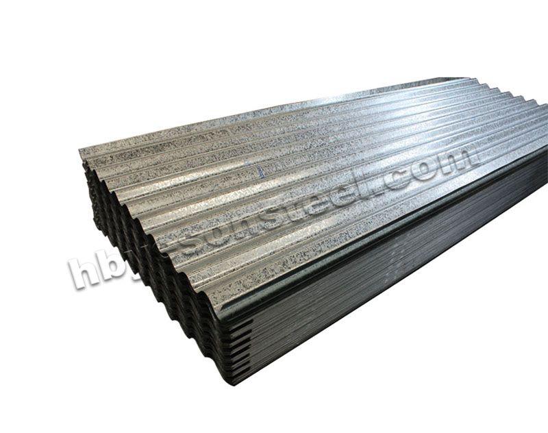 Galvanized steel roofing