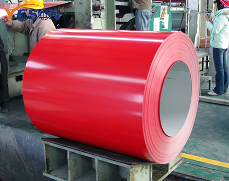 Color coated steel coil anti-corrosion treatment method
