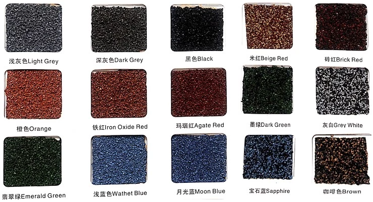 Stone coated metal roof tiles color